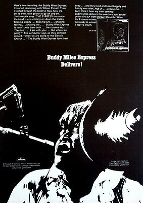 BUDDY MILES EXPRESS 1968 Poster Ad EXPRESSWAY TO YOUR SKULL