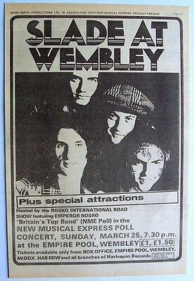 SLADE 1973 Poster Ad CONCERT WEMBLEY EMPIRE POOL