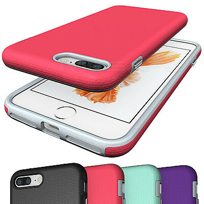 Shockproof Armor Hybrid Rugged Rubber Hard Case Cover for Apple iPhone 7/ 7 Plus