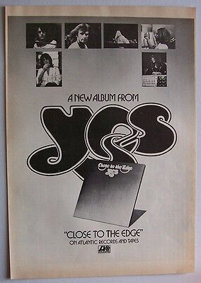 YES 1972 Poster Ad CLOSE TO THE EDGE