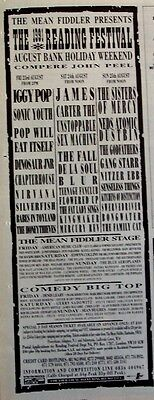 NIRVANA 1991 Advert CONCERT READING FESTIVAL sonic youth babes in toyland