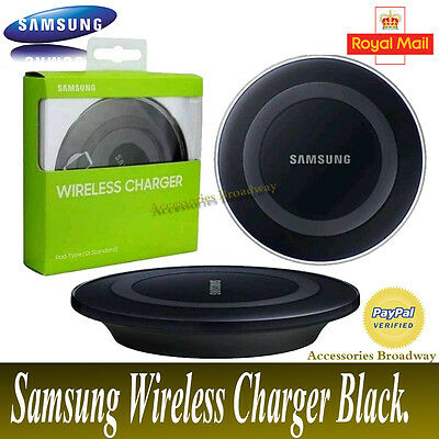 Genuine Qi Wireless Charger Charging Pad For Samsung Galaxy S6/s7 & Edge Black