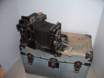 Graflex Speed Graphic w 135mm lens in original box with accessories