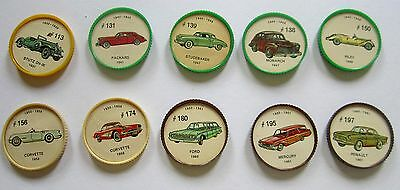 10 Mid Century Canadian Issue Jello Car Coins Lot 03