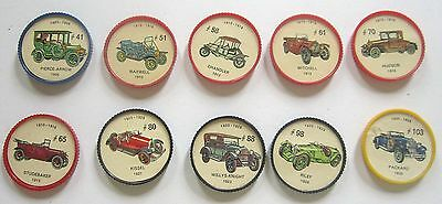 10 Mid Century Canadian Issue Jello Car Coins Lot 02