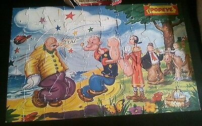 Rare 1945 Vintage Popeye Jigsaw Thimble Theatre Child's Picture Puzzle Jaymar