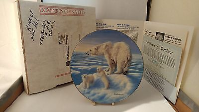 """Dominion China 8 5/8"""" Kings of the Hill Plate with Box & Papers"""