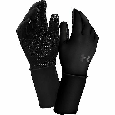 NEW UNDER ARMOUR Cold Gear Liner Gloves black men M L 1238031 Running Winter