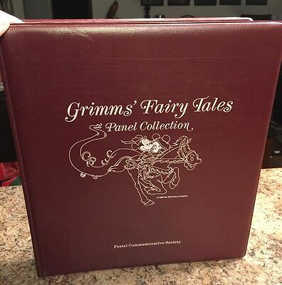 Grimms' Fairy Tales Disney Panel Collection Binder Stamps & Stories Vintage WOW