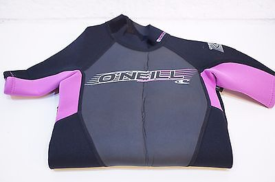 O'Neill Wetsuits Youth 2 mm Reactor Spring Suit Black / Pink Size 4