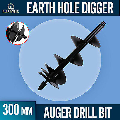 300mm /1M AUGER 20mm DRIVE for POST HOLE EARTH DIGGER FENCE DRILL BIT with BLADE