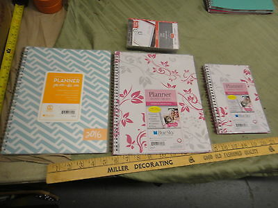 B ) Blue Sky new unused 2016 daily monthly planners, calendar refill, all seen