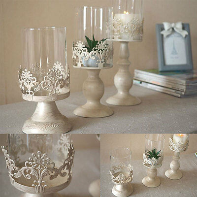 Romantic Classical Hollow Tea Light Candle Holder Stand Home Decor Party