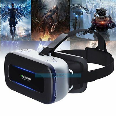 "VR Shinecon 3D All in One Machine HD 5.5"" 4K Video Glasses WIFI Bluetooth【UK】"
