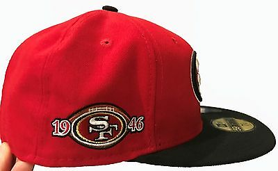 d9e1719584b49c Sf San Francisco 49Ers New Era Hat Fitted 59Fify Team Nfl Red/ Gold Year  Side