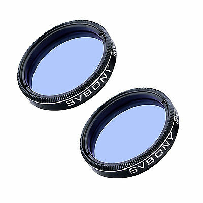 "2Pcs Blue Moon&Skyglow Telescope Eyepiece Filters 1.25"" Optical Glass Lens US"