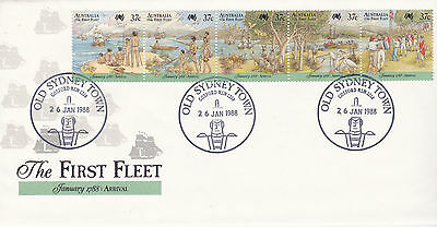 Australia FDC First Day Cover 1988 FIRST FLEET Arrival cxl GOSFORD pictorial
