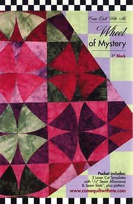 Acrylic Template ~ WHEEL OF MYSTERY ~ Come Quilt With Me - 3 laser cut templates