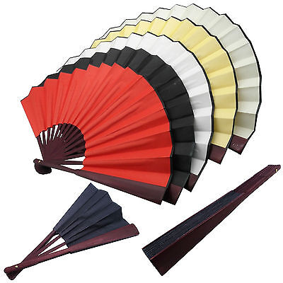 Vintage Chinese Silk Blank DIY Calligraphy Painting Drawing Folding Hand Fan LOT