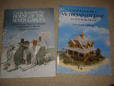 Cut & Assemble HO Gauge/Scale Card Buildings Books, E V Gillon Jnr..