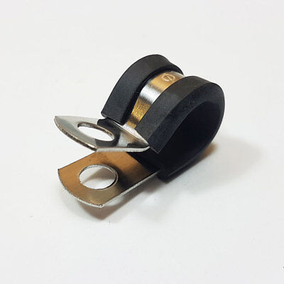 P Clips 10mm Rubber Lined Steel Stainless Steel Metal Clamp Hose Cable Pclip