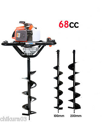 68cc 2.5kw BIG power post hole digger ground drilling machine earth auger