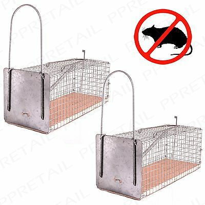 2 Pack EASY USE HUMANE MOUSE/MICE/RODENT TRAP/Catcher Home/Garden Reusable Cage