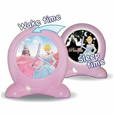 Disney Princess Go Glow Clock Bedtime Trainer New