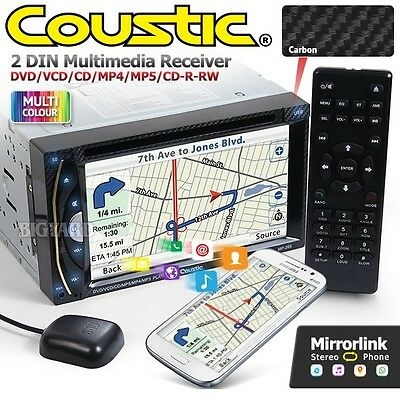 "COUSTIC MP-265 6.2"" Double DIN GPS Mirror Link Car DVD Player Stereo Headunit"