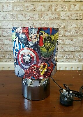 Brand New Marvel Avengers boys bedroom touch lamp Handcrafted unique