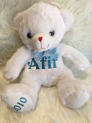 Personalised Bear Teddy Baby Gift Arrival Name And Date