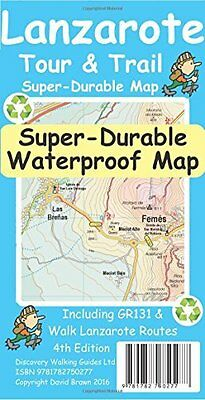 Lanzarote Tour & Trail Super-Durable Map Sheet map New  Book