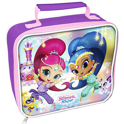 Official Licensed Product Shimmer and Shine Rectangle Lunch Bag School Gift New