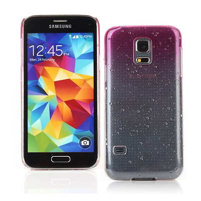 Kit Me Out UK Hard Clip-on Case for Samsung Galaxy S5 MINI - Hot Pink / Clear Tr