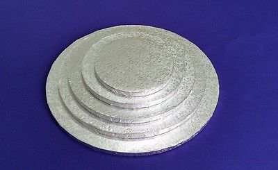 """Cake Drum Cake Boards   Round 12 mm   Silver   Strong Base   6"""" 8"""" 10"""" 12"""" 14"""""""