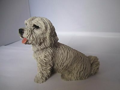 Maltese dog figure hand made in Italy Castagna new