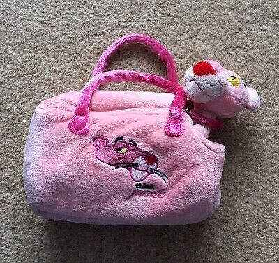 Pink Panther Soft Toy In Bag