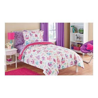Mainstays Kids Pretty Princess Bed in a Bag Bedding Set | size: Twin