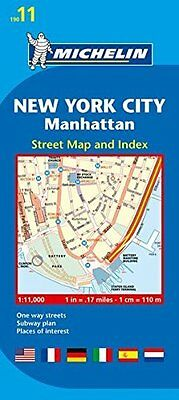 New York City : Manhattan City Plans by Michelin New Sheet map  folded Book