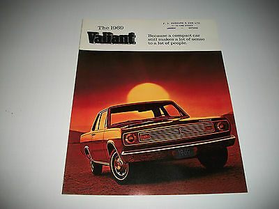 1969 Plymouth Valiant Sales Brochure Catalog Canadian Market Issue Clean