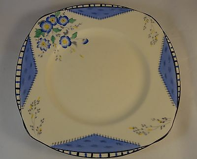 """Burleigh Ware Art Deco Square Maytime 7.5"""" Dessert Side Cake Plates 5 Available"""