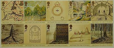 GB mint stamps.  The Lord of the Rings by J.R.R. Tolkien