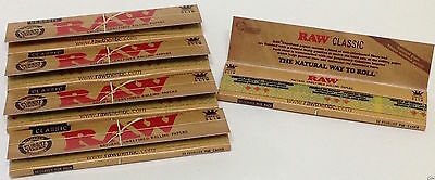 5 Packs RAW Classic Kingsize Slim Rolling Papers 5 Packs Cheapest on EBAY