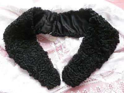 Exquisite Vintage French Astrakhan Collar Scarf Never Been Worn