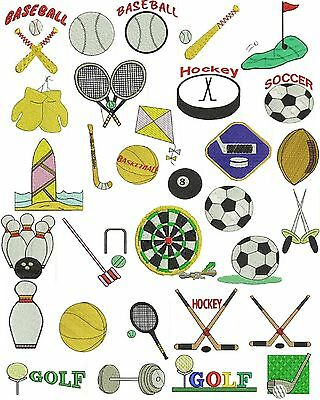 Sports Machine Embroidery Designs, Football, Soccer, Basketball, TSN Designs