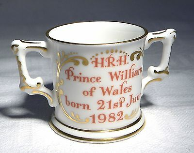 Royal Crown Derby Posies Miniature Commemorative Loving Cup Birth Price William