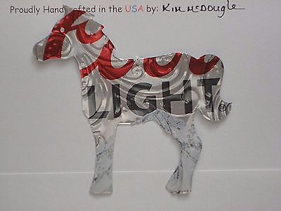 Embossed Horse Handmade Christmas Ornament Recycled Aluminum C Light Beer Can