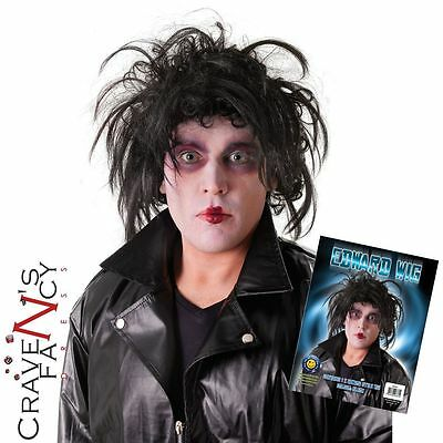 Halloween Wig Edward Scissor Hands Black Robert Smith The Cure  Fancy Dress New