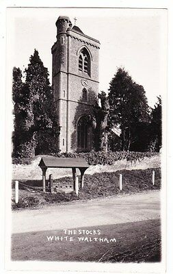 Early Postcard,Berkshire, White Waltham, The Stocks And Church, RP