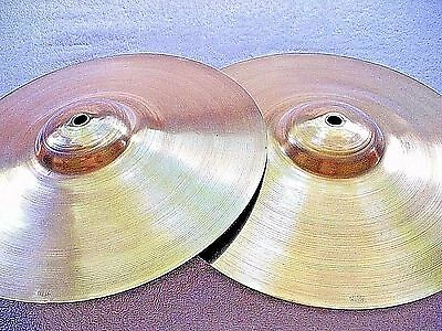 "VINTAGE Old 1940s 11"" ELTON Sock LOW BOY Jazz Hi Hat CYMBALS Exc 321/336g WWSHIP"